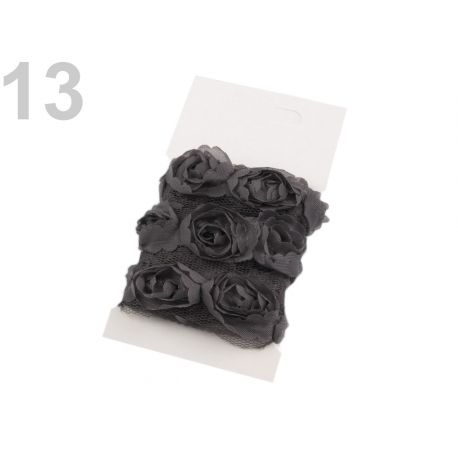 Prýmek na tylu šíře 20 mm s růžemi