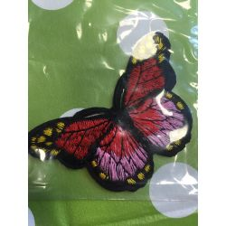 Nažehlovačka motýl červená
