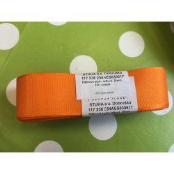 Taftová stuha oranžová  25mm