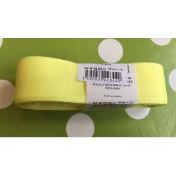 Taftová stuha žlutá 25mm