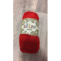 Háčkovací a pletací příze bella - červená