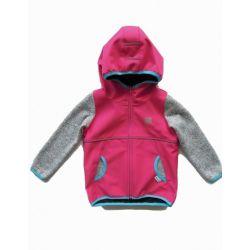 Softshellová bunda, úpletové rukávy