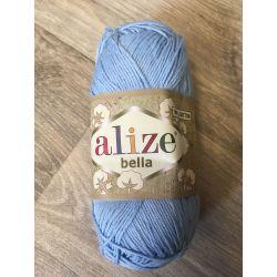 Háčkovací a pletací příze bella - modrá
