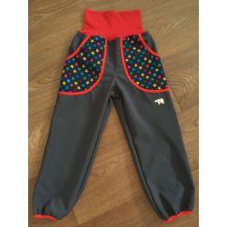 Softshellové kalhoty pro děti, teplé