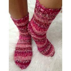 Ponožky vínovo růžová
