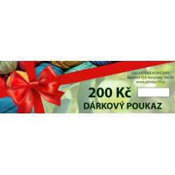Dárkové poukazy 200, 300, 500, 1000, 1500, 2000