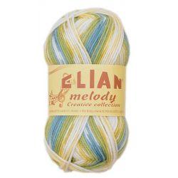 Elian Melody - melír oranžová, bílá, modrá, zelená