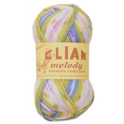 Elian Melody - melír zelená, fialová, růžová, bílá