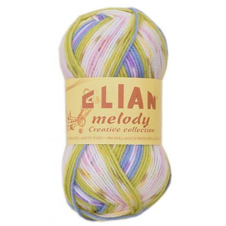 Elian Melody - melír zelená, oranžová, bílá