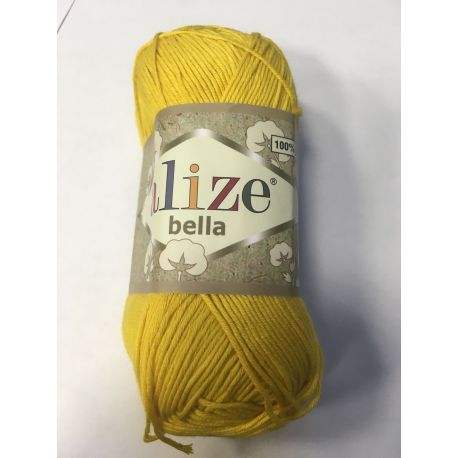 Háčkovací a pletací příze bella - žlutá
