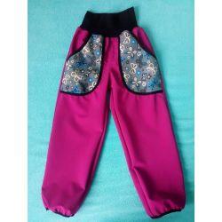 Softshellové kalhoty pro děti bez fleecu