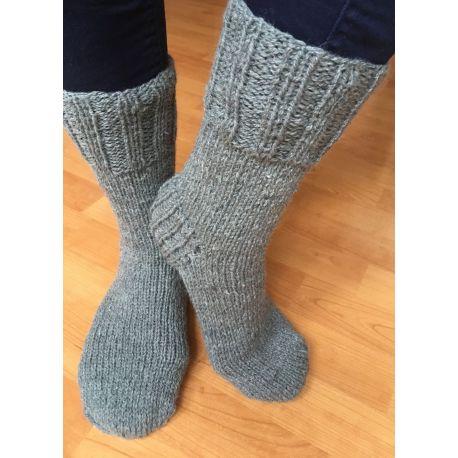 Ponožky z bábinčiny příze - šedá