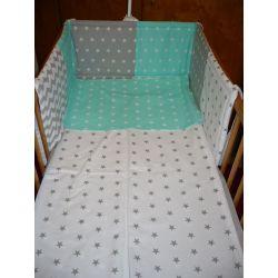 Rovný mantinel  - bílá, zelená, šedá hvězda (více variant)
