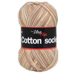 Cotton socks - zaleno modrý melír