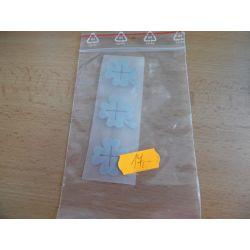 Reflexní nažehlovačka - čtyřlístek 3x