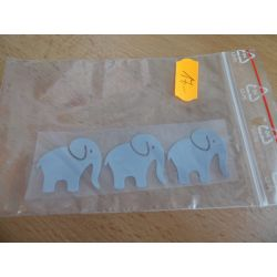 Reflexní nažehlovačka - slon 3x