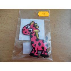 Nažehlovačka - žirafa - růžová