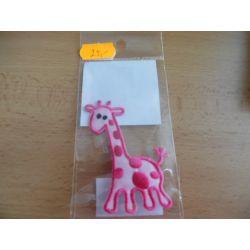 Nažehlovačka - žirafa - růžová růžová