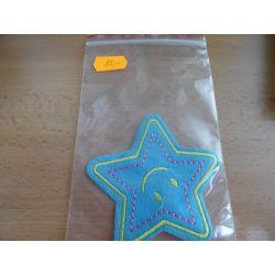 Nažehlovačka hvězda - modrá